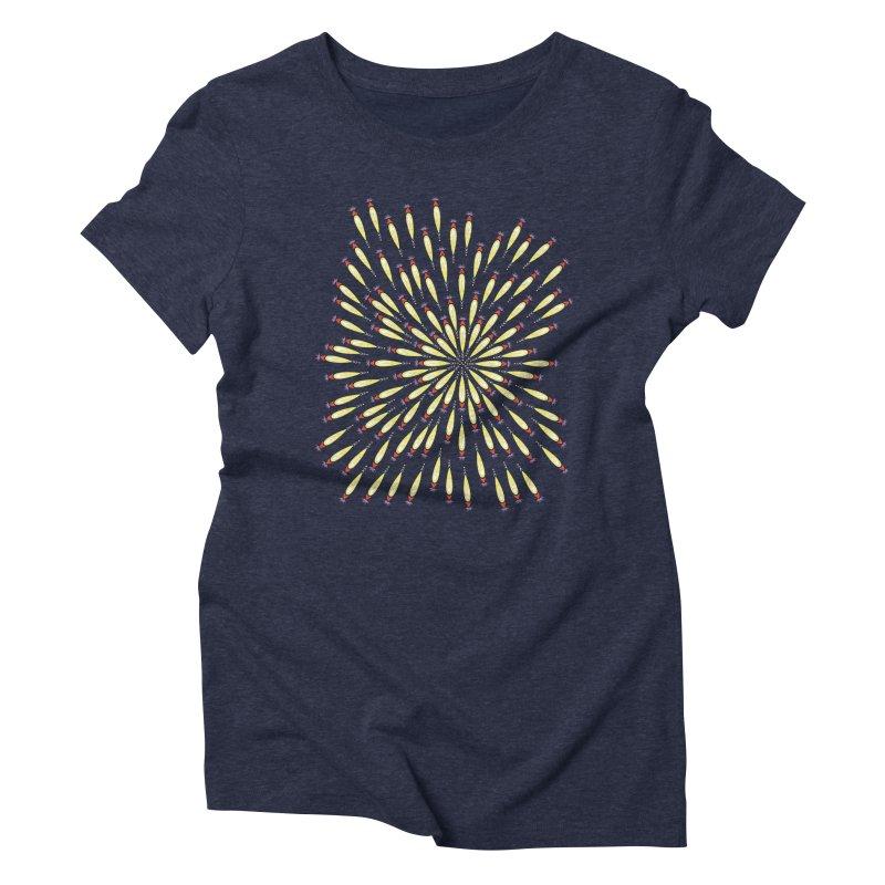 Flower Burst Women's Triblend T-Shirt by Kira Seiler