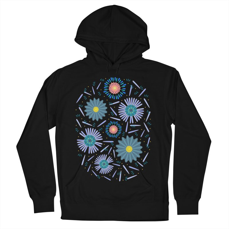 Blue Daisy Women's French Terry Pullover Hoody by Kira Seiler