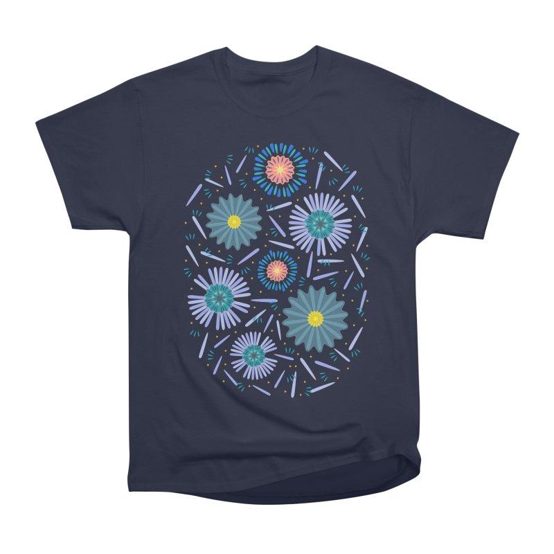 Blue Daisy Women's Heavyweight Unisex T-Shirt by Kira Seiler