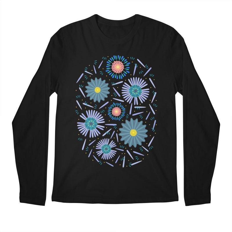 Blue Daisy Men's Regular Longsleeve T-Shirt by Kira Seiler