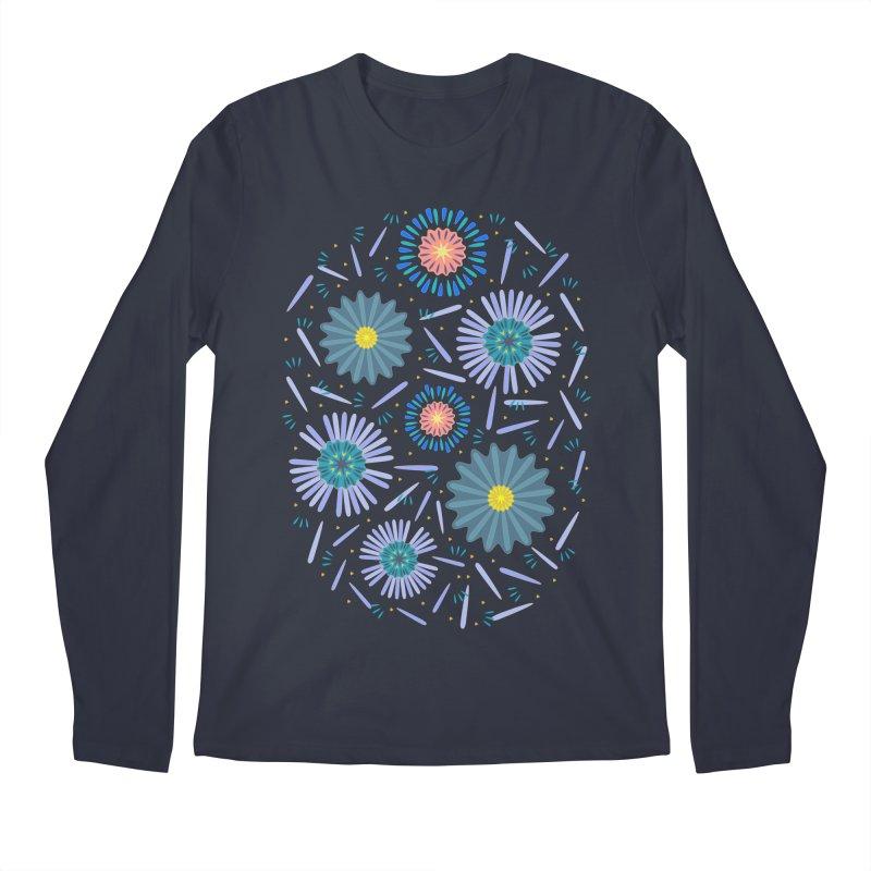 Blue Daisy Men's Longsleeve T-Shirt by Kira Seiler