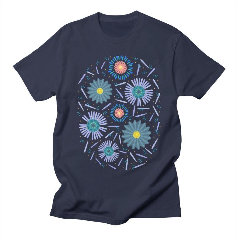Blue Daisy Men's Regular T-Shirt by Kira Seiler