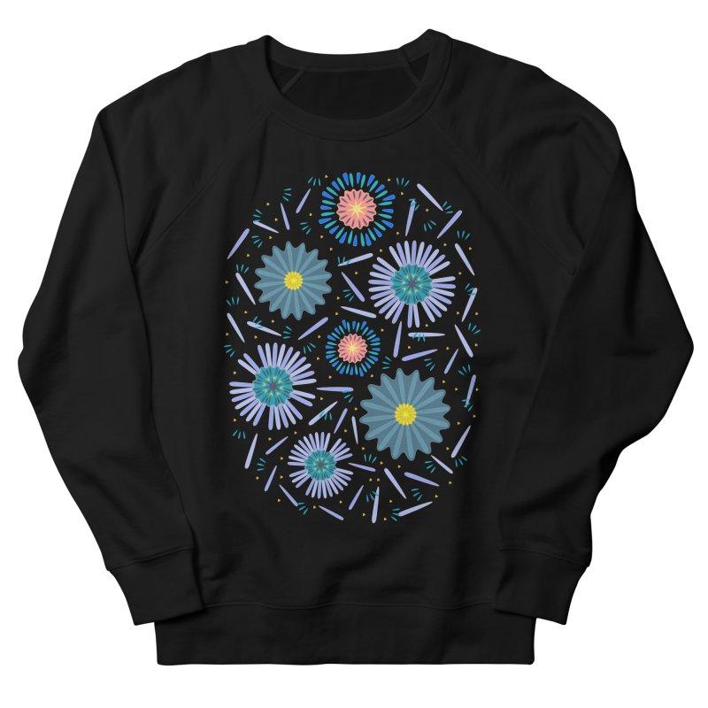 Blue Daisy Women's French Terry Sweatshirt by Kira Seiler