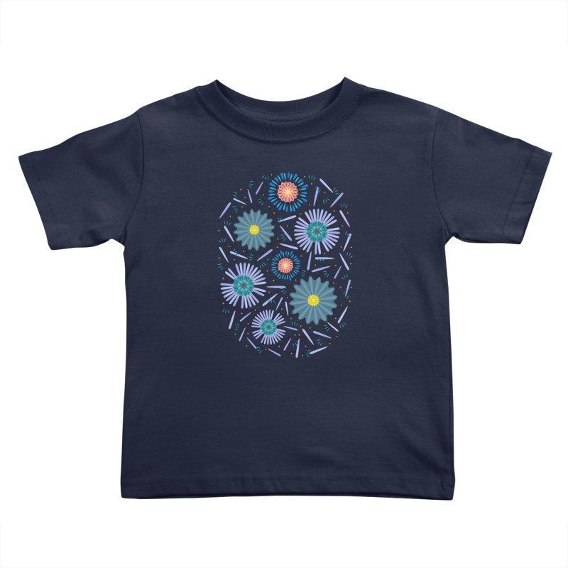Blue Daisy Kids Toddler T-Shirt by Kira Seiler
