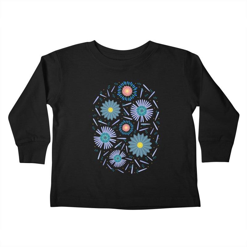 Blue Daisy Kids Toddler Longsleeve T-Shirt by Kira Seiler