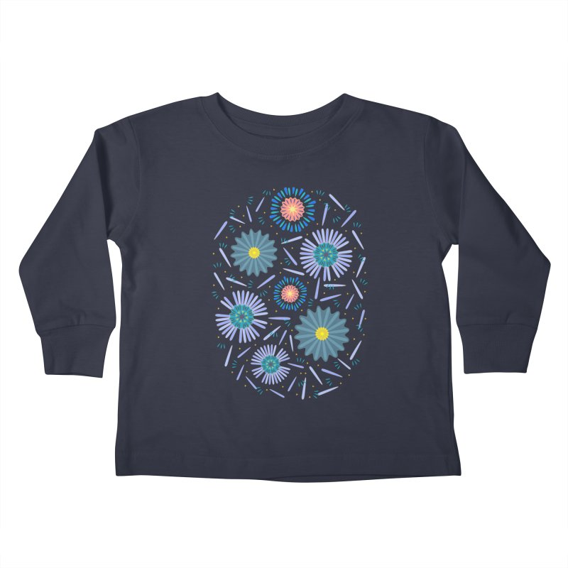 Blue Daisy Kids Toddler Longsleeve T-Shirt by Kira Seiler