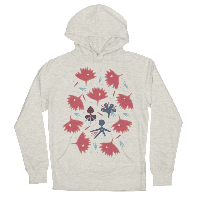 Red Leaves Women's French Terry Pullover Hoody by Kira Seiler