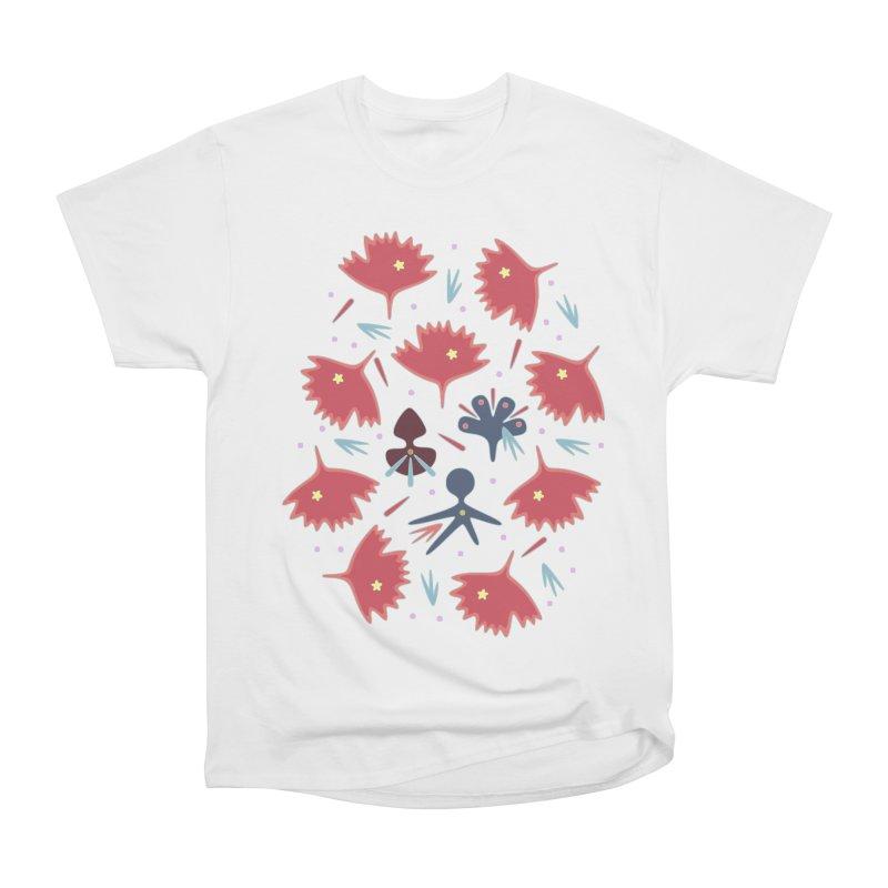 Red Leaves Men's Heavyweight T-Shirt by Kira Seiler