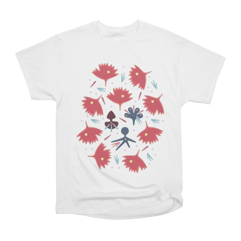 Red Leaves Women's Heavyweight Unisex T-Shirt by Kira Seiler