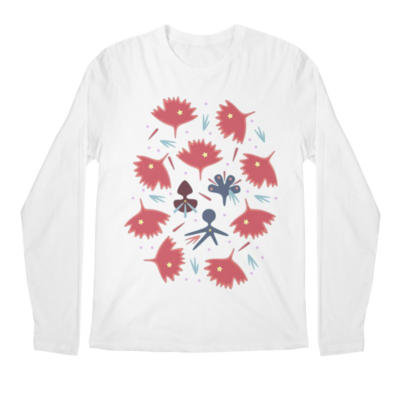 Red Leaves Men's Regular Longsleeve T-Shirt by Kira Seiler