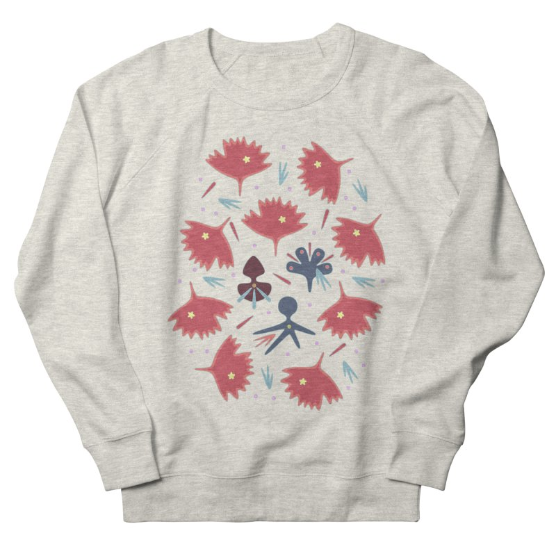 Red Leaves Women's French Terry Sweatshirt by Kira Seiler