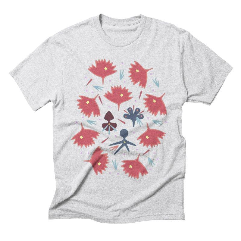 Red Leaves Men's Triblend T-Shirt by Kira Seiler