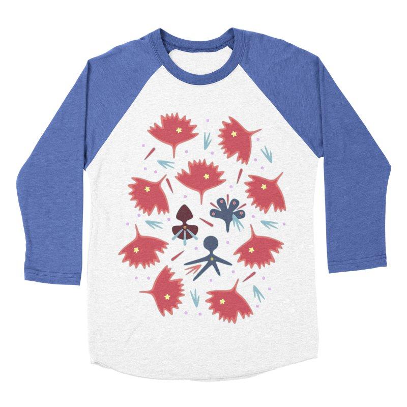 Red Leaves Men's Baseball Triblend T-Shirt by Kira Seiler