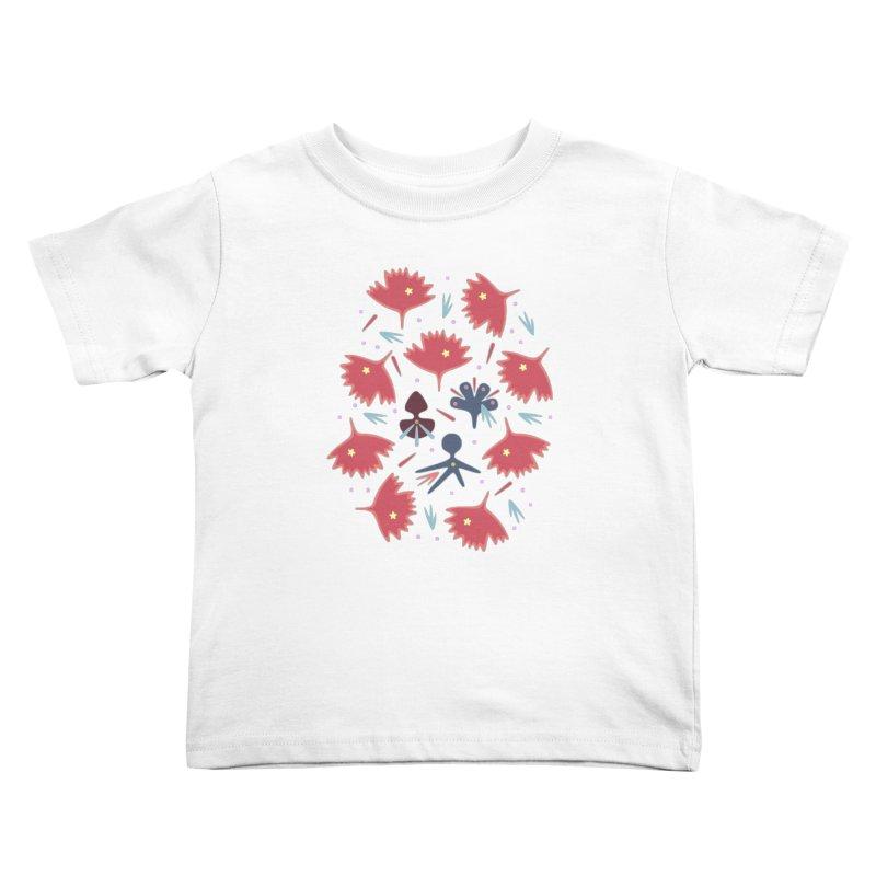 Red Leaves Kids Toddler T-Shirt by Kira Seiler
