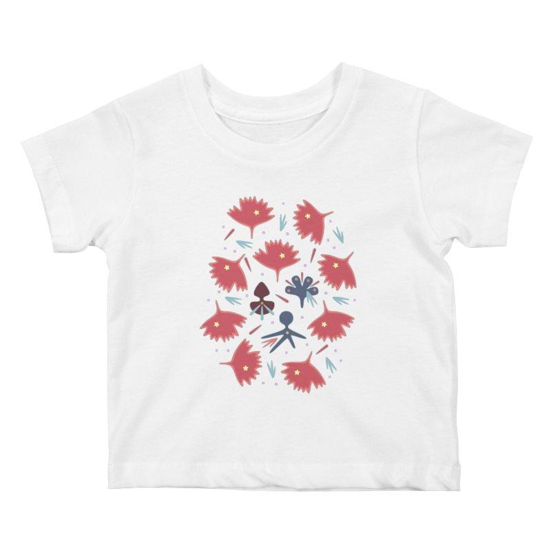 Red Leaves Kids Baby T-Shirt by Kira Seiler