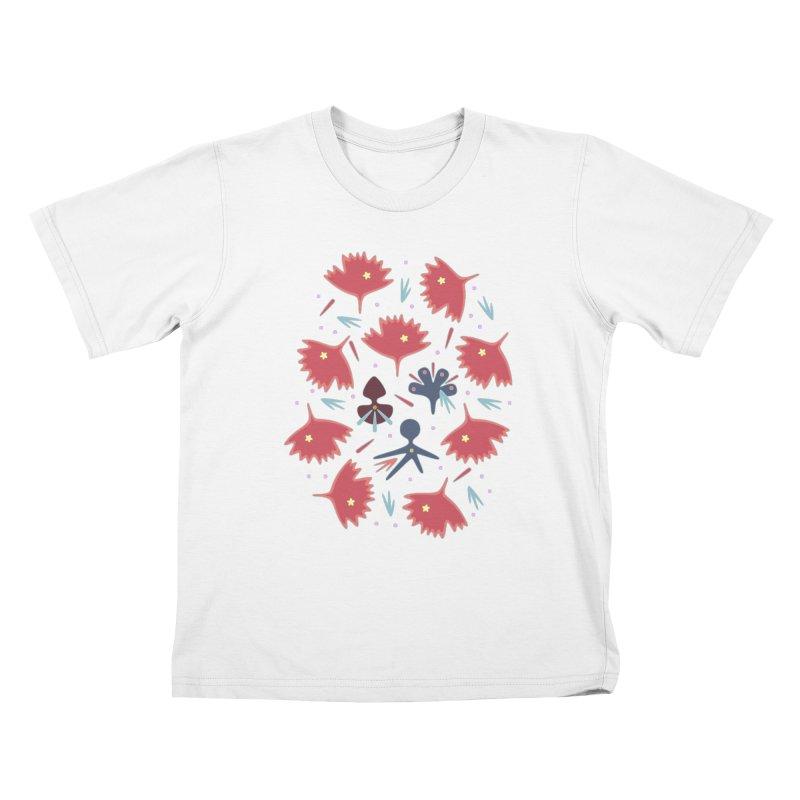Red Leaves Kids T-Shirt by Kira Seiler