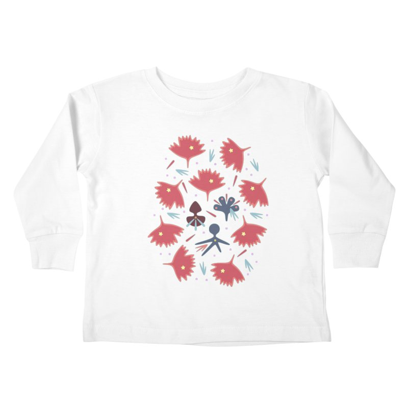 Red Leaves Kids Toddler Longsleeve T-Shirt by Kira Seiler
