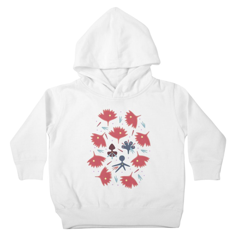 Red Leaves Kids Toddler Pullover Hoody by Kira Seiler
