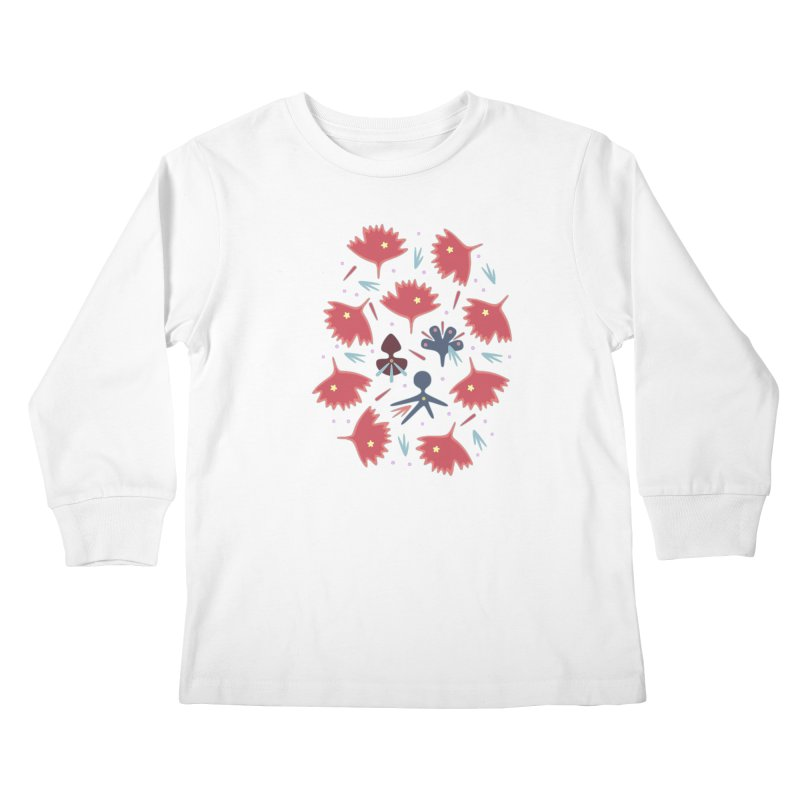 Red Leaves Kids Longsleeve T-Shirt by Kira Seiler