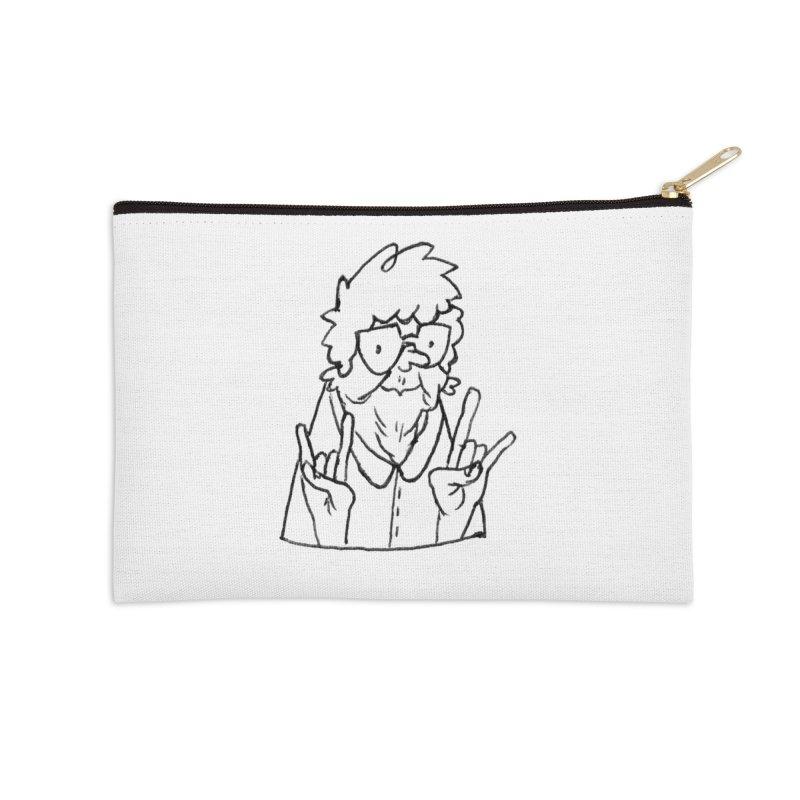 Kirby Krackle - Grandma Logo Accessories Zip Pouch by Kirby Krackle's Artist Shop