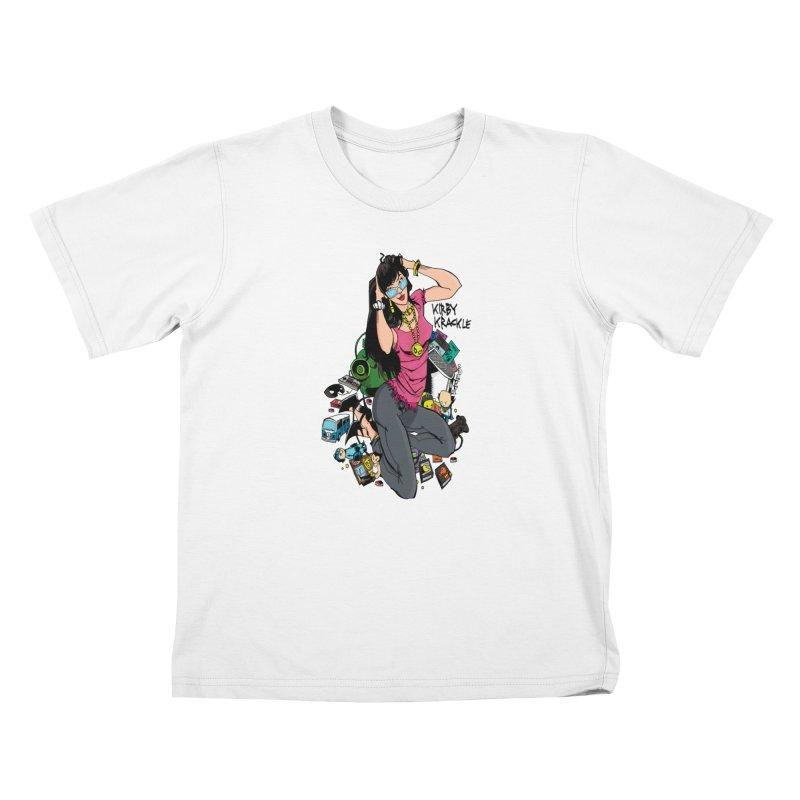 Kirby Krackle - Gamer Girl Logo Kids T-Shirt by Kirby Krackle's Artist Shop