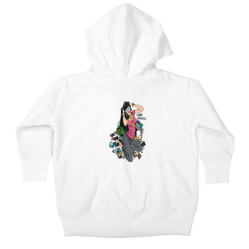 Kirby Krackle - Gamer Girl Logo Kids Baby Zip-Up Hoody by Kirby Krackle's Artist Shop