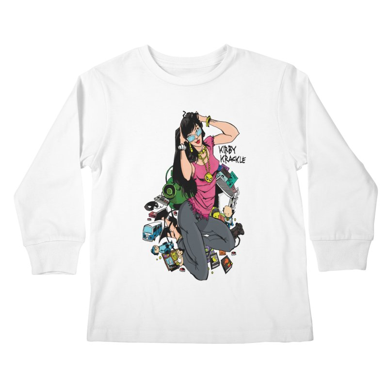 Kirby Krackle - Gamer Girl Logo Kids Longsleeve T-Shirt by Kirby Krackle's Artist Shop