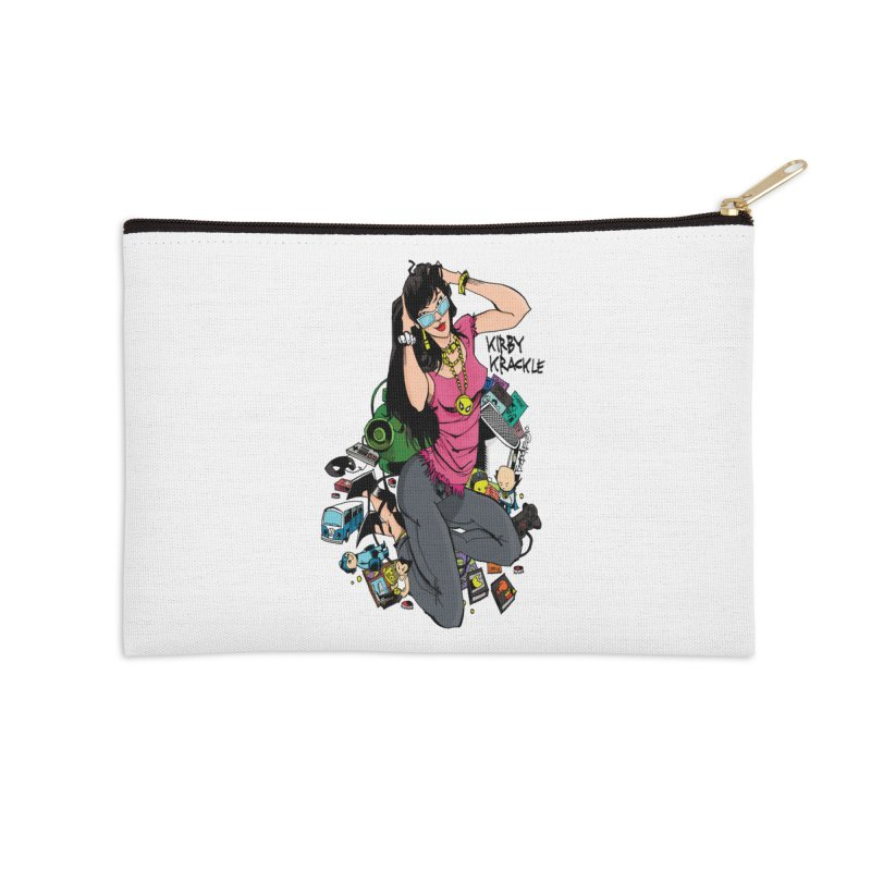 Kirby Krackle - Gamer Girl Logo Accessories Zip Pouch by Kirby Krackle's Artist Shop