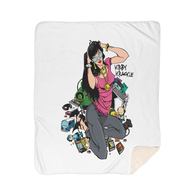 Kirby Krackle - Gamer Girl Logo Home Sherpa Blanket Blanket by Kirby Krackle's Artist Shop