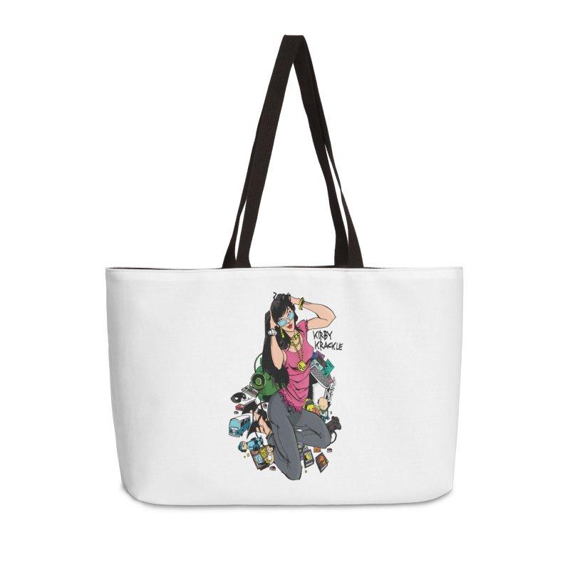 Kirby Krackle - Gamer Girl Logo Accessories Weekender Bag Bag by Kirby Krackle's Artist Shop