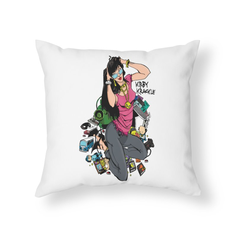 Kirby Krackle - Gamer Girl Logo Home Throw Pillow by Kirby Krackle's Artist Shop