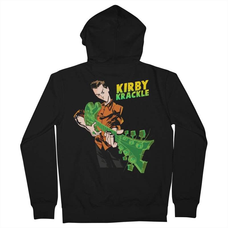 Kirby Krackle - Ring Capacity Logo Men's French Terry Zip-Up Hoody by Kirby Krackle's Artist Shop