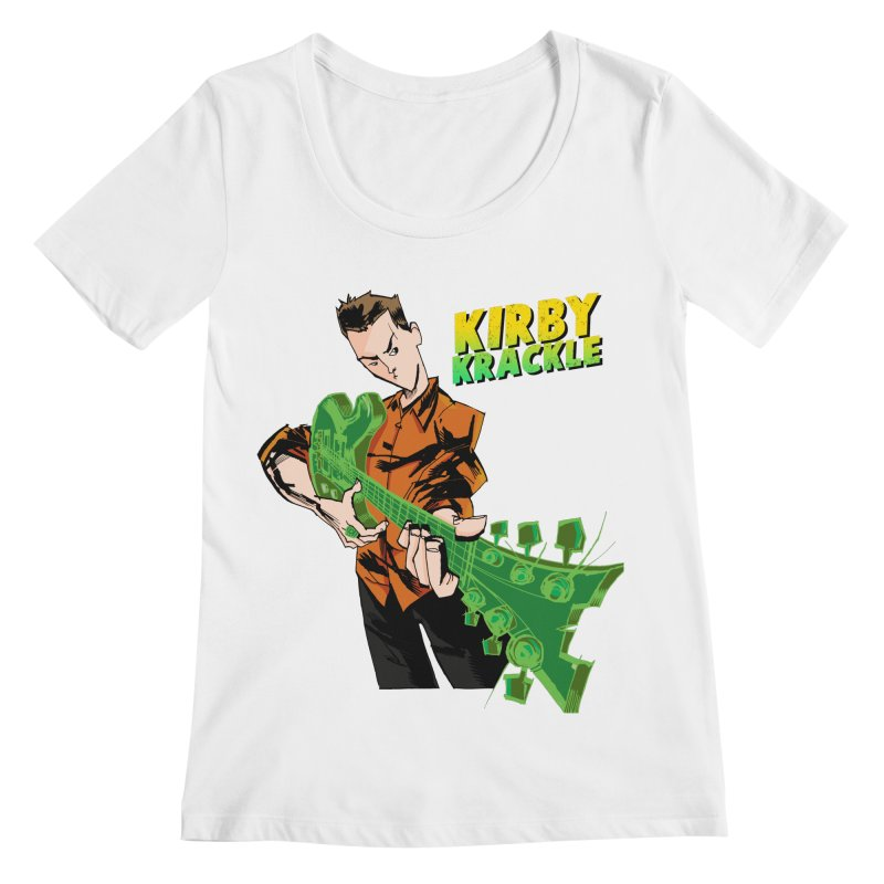 Kirby Krackle - Ring Capacity Logo Women's Scoopneck by Kirby Krackle's Artist Shop