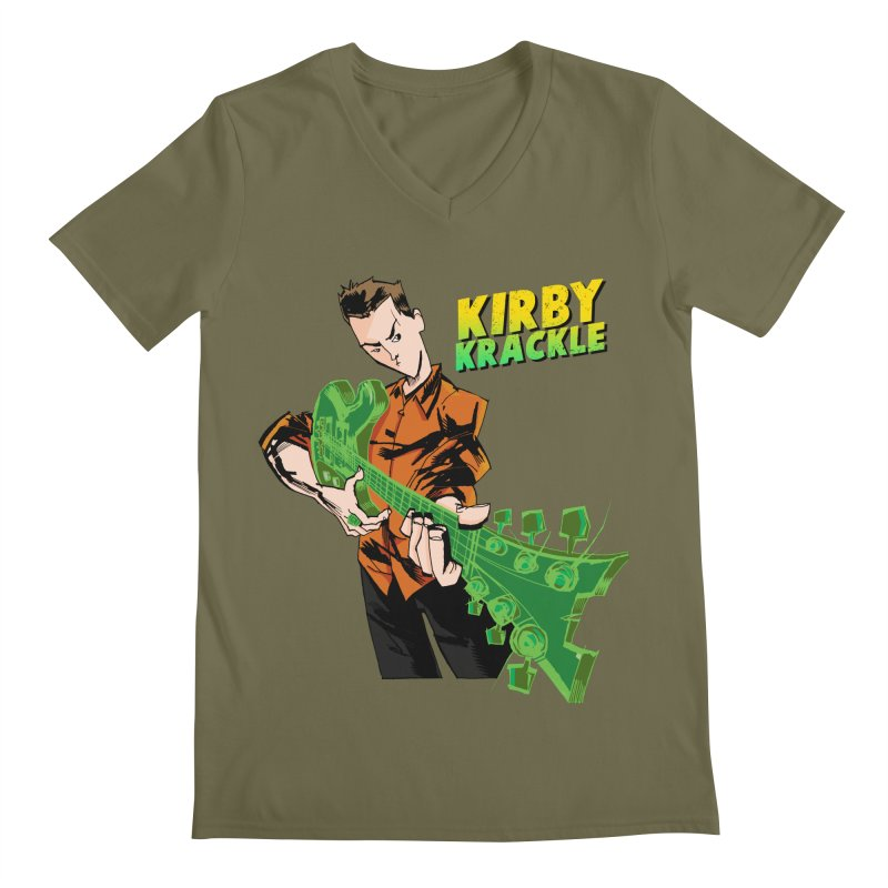 Kirby Krackle - Ring Capacity Logo Men's V-Neck by Kirby Krackle's Artist Shop
