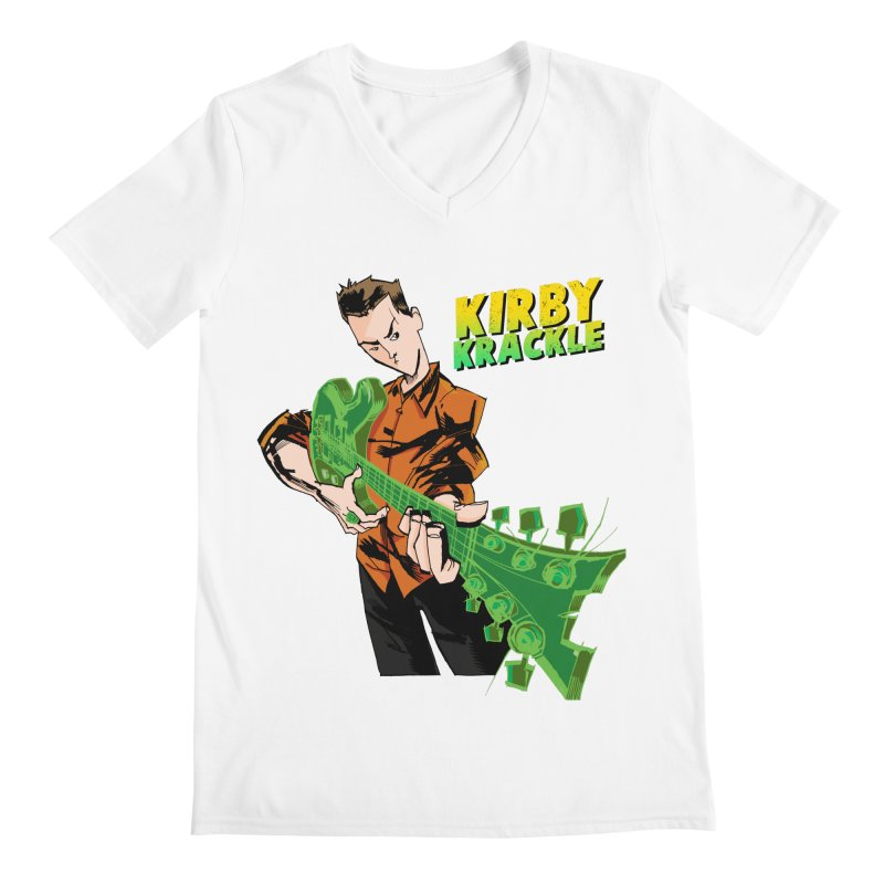 Kirby Krackle - Ring Capacity Logo Men's V-Neck by Kirby Krackle's Artist Shop