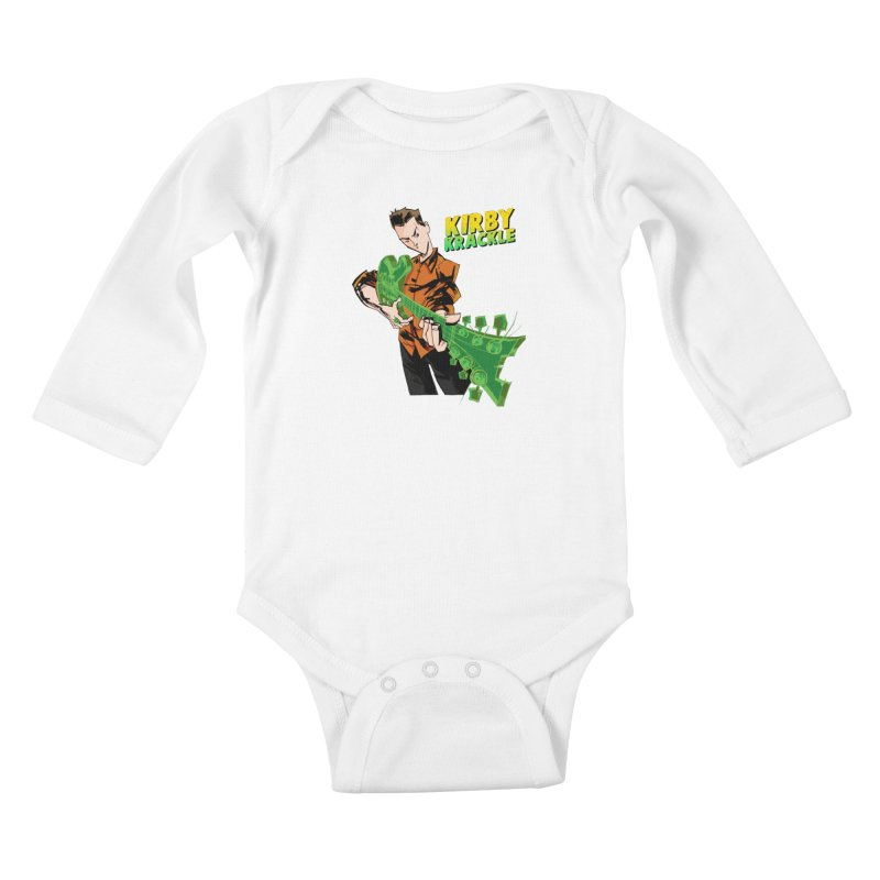 Kirby Krackle - Ring Capacity Logo Kids Baby Longsleeve Bodysuit by Kirby Krackle's Artist Shop