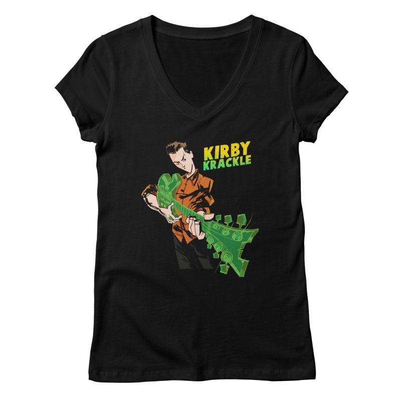 Kirby Krackle - Ring Capacity Logo Women's V-Neck by Kirby Krackle's Artist Shop