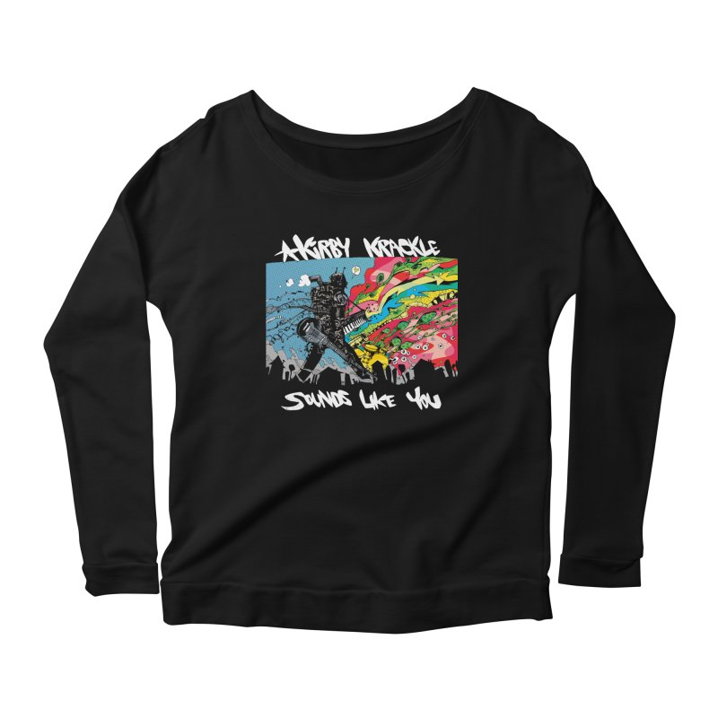 Kirby Krackle - Sounds Like You Album Cover Women's Longsleeve Scoopneck  by Kirby Krackle's Artist Shop