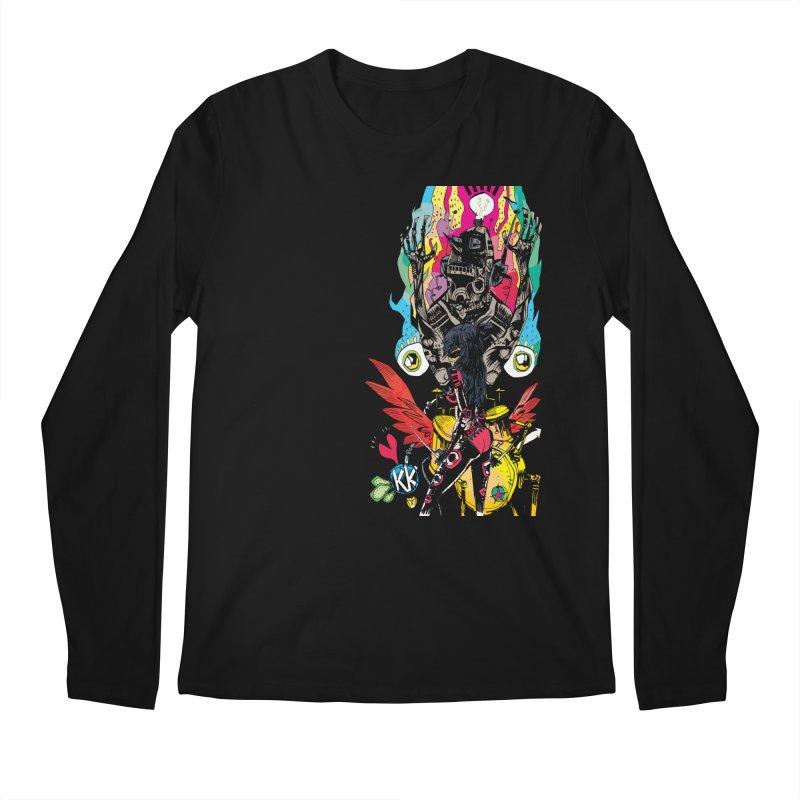 Kirby Krackle - Electric Man Logo Men's Longsleeve T-Shirt by Kirby Krackle's Artist Shop