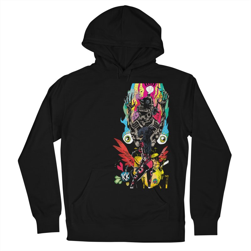 Kirby Krackle - Electric Man Logo Women's French Terry Pullover Hoody by Kirby Krackle's Artist Shop