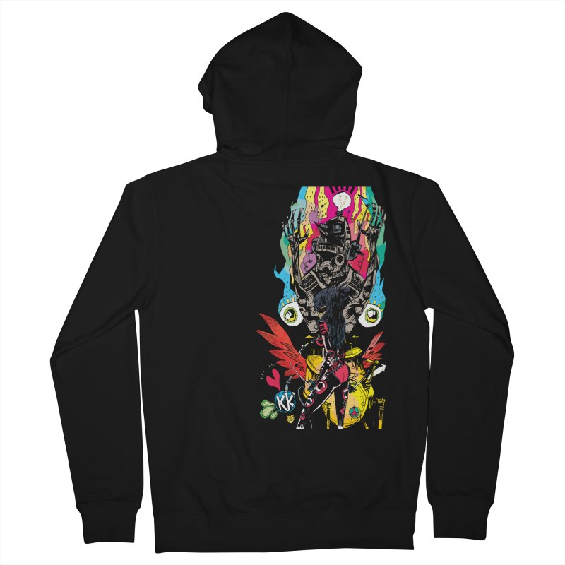 Kirby Krackle - Electric Man Logo Men's Zip-Up Hoody by Kirby Krackle's Artist Shop