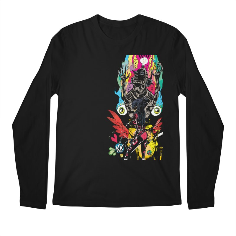 Kirby Krackle - Electric Man Logo Men's Regular Longsleeve T-Shirt by Kirby Krackle's Artist Shop
