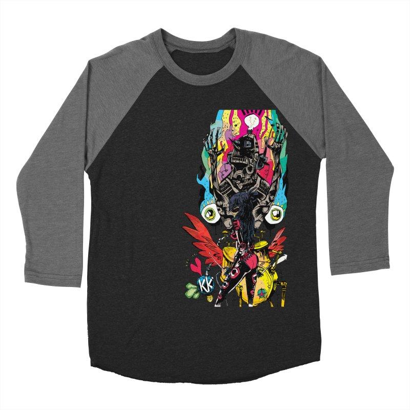Kirby Krackle - Electric Man Logo Women's Baseball Triblend Longsleeve T-Shirt by Kirby Krackle's Artist Shop