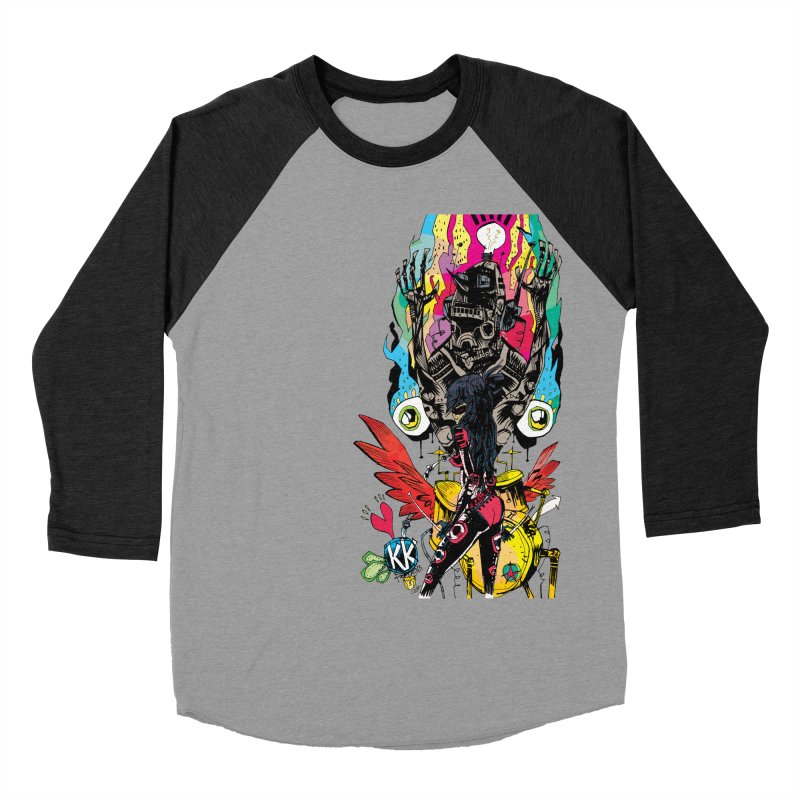 Kirby Krackle - Electric Man Logo Women's Baseball Triblend Longsleeve T-Shirt by Kirby Krackle's Artist Shop
