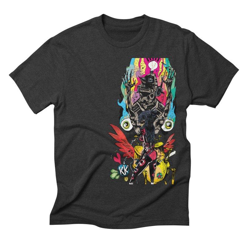 Kirby Krackle - Electric Man Logo Men's Triblend T-shirt by Kirby Krackle's Artist Shop