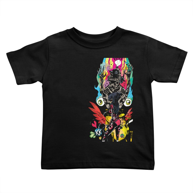 Kirby Krackle - Electric Man Logo Kids Toddler T-Shirt by Kirby Krackle's Artist Shop
