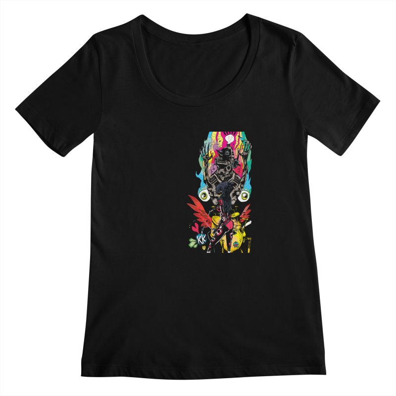 Kirby Krackle - Electric Man Logo Women's Scoopneck by Kirby Krackle's Artist Shop
