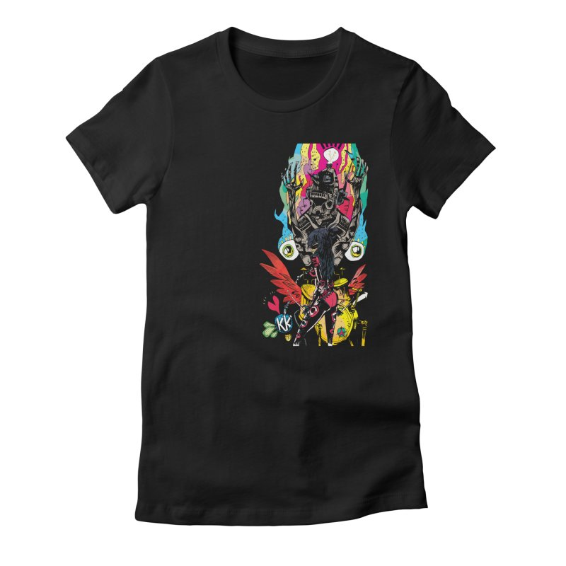 Kirby Krackle - Electric Man Logo Women's Fitted T-Shirt by Kirby Krackle's Artist Shop