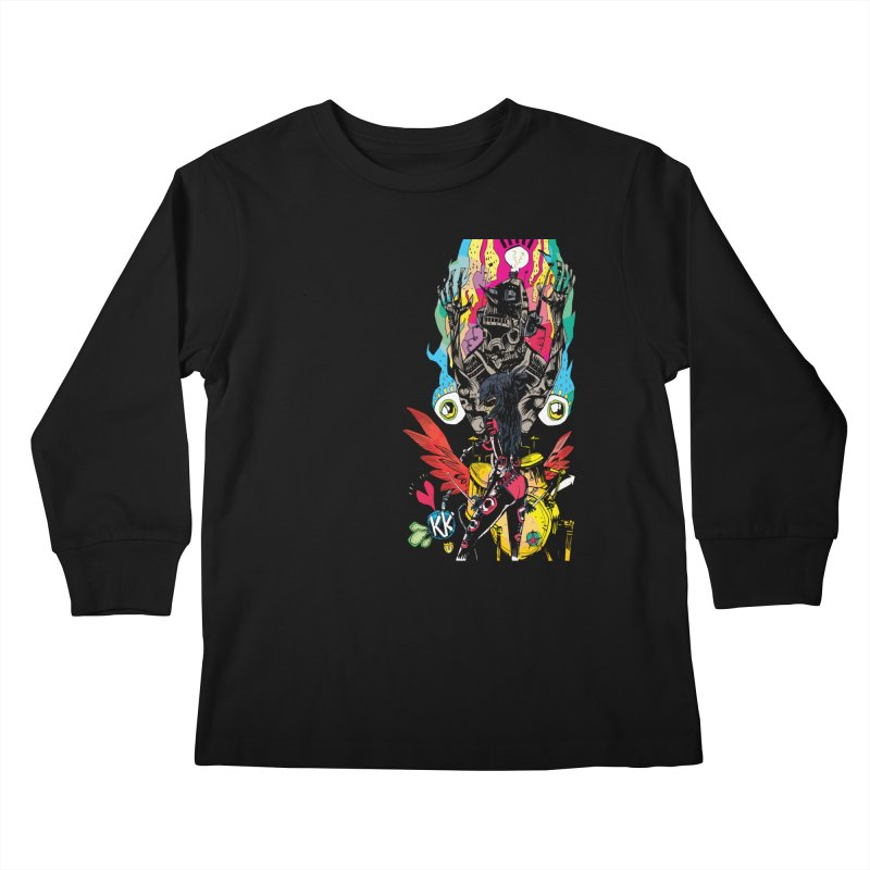 Kirby Krackle - Electric Man Logo Kids Longsleeve T-Shirt by Kirby Krackle's Artist Shop
