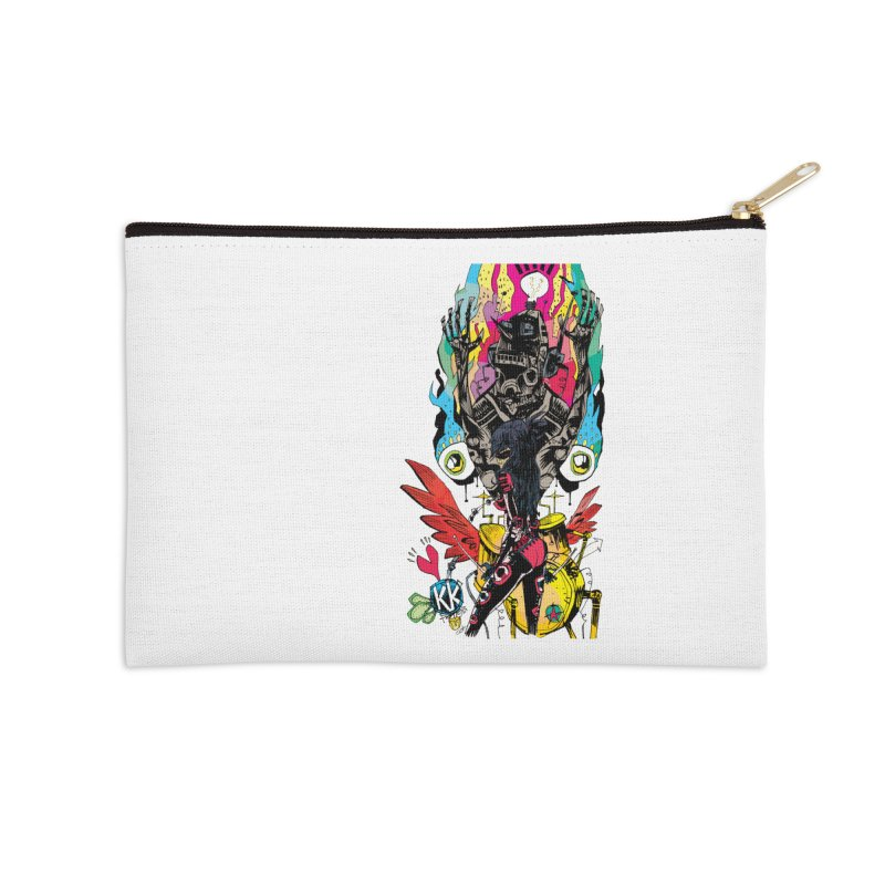 Kirby Krackle - Electric Man Logo Accessories Zip Pouch by Kirby Krackle's Artist Shop